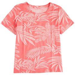 Coral Bay Petite Summer Foliage Short Sleeve Top
