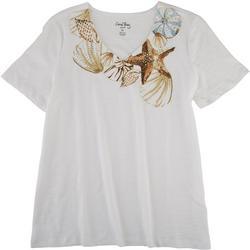Petite Seashells Short Sleeve Top