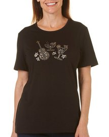 Coral Bay Petite Embellished Island Life Top