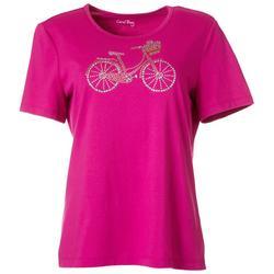Petite Jewel Embellished Bicycle Top