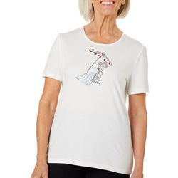 Coral Bay Petite Jeweled Shaded Beach Cat Florida Tee