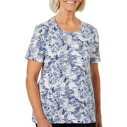 Coral Bay Petite Sea Side Short Sleeve Top