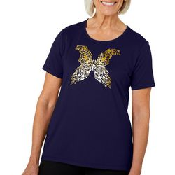 Coral Bay Petite Glitter Butterfly Top