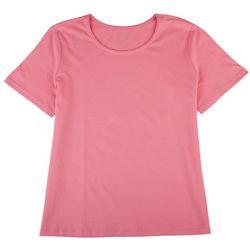 Coral Bay Petite So Basic Short Sleeve Top