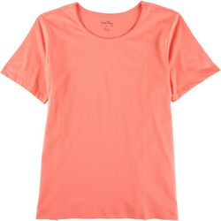 Coral Bay Petite So Basic Short Sleeve Top