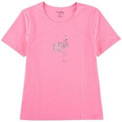 Coral Bay Petite Embellished Flamingo T-shirt