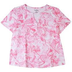 Coral Bay Petite Palms Short Sleeve Top