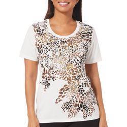 Coral Bay Petite Cheetah Print Top