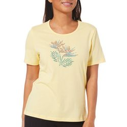 Coral Bay Petite Embellished Bird Of Paradise Top