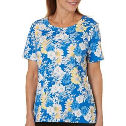 Coral Bay Petite Summer Floral Print Top