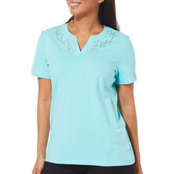 Coral Bay Petite Embellished Bloom Top