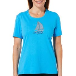 Coral Bay Petite Jeweled Sailboat Top