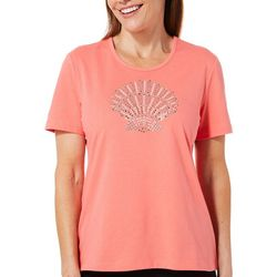 Coral Bay Petite Jeweled Shell Top