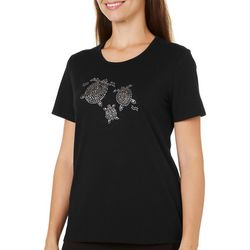 Coral Bay Petite Jeweled Sea Turtle Family Top