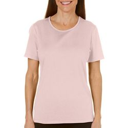 Coral Bay Petite Scoop Neck Solid Top