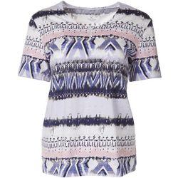 Coral Bay Petite Biadere Short Sleeve Shirt