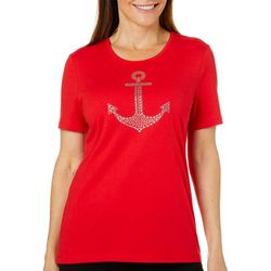 Coral Bay Petite Jeweled Anchor Florida Tee