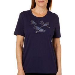 Coral Bay Petite Jeweled Sandhill Crane Florida Tee