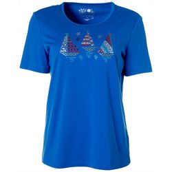 Coral Bay Petite Americana Jeweled Boats Top