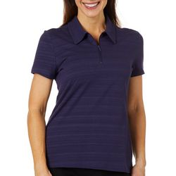 Coral Bay Energy Petite Striped Short Sleeve Polo