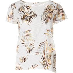 Coral Bay Petite Palms Short Sleeve Shirt