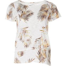 Petite Palms Short Sleeve Shirt