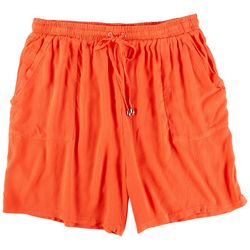 Coral Bay Petite Very Basic Solid Shorts