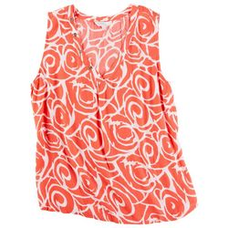 Coral Bay Petite Spiral Sleeveless Top