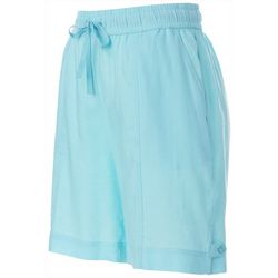 Petite Linen Drawstring Shorts