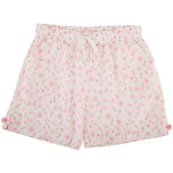 Coral Bay Petite Pineapple Linen Shorts