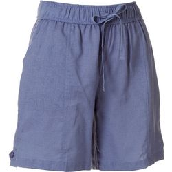 Coral Bay Petite Solid Linen Shorts