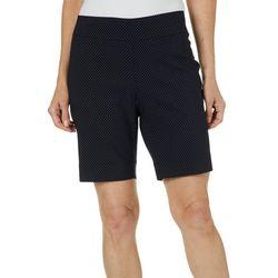 Coral Bay Petite Millennium Dot Print Bermuda Shorts