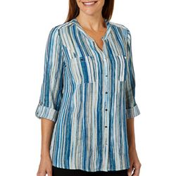 Coral Bay Petite Vertical Striped Pattern Top