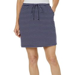 Coral Bay Petite Striped Drawstring Skort