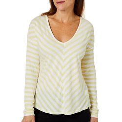 Coral Bay Petite Striped V-Neck Top