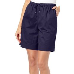 Petite The Everyday Solid Drawstring Twill Shorts