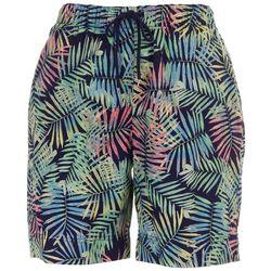 Coral Bay Womens Foliage Print Shorts