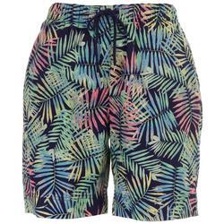 Womens Foliage Print Shorts