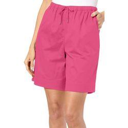 Coral Bay Petite Pull On Solid Shorts