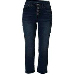 Petite Vintage High Rise Button Fly Jeans