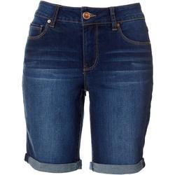 Petite Hide Your Muffin Top Bermuda Shorts