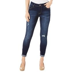 Royalty by YMI Petite Distressed Roll Cuff Jeans