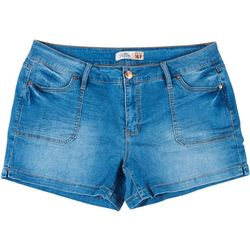Petite Tummy Control Pork Chop Pocket Shorts