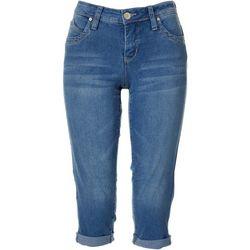 Royalty by YMI Petite WannaBettaButt Rolled Cuff Capri Jeans