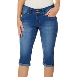 Royalty by YMI Petite WannaBettaButt Roll Cuff Denim Capris