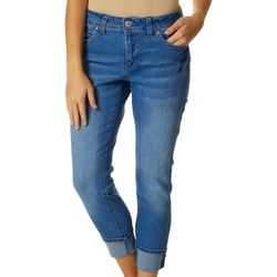 Royalty by YMI Petite WBB Mid Rise Skinny Cuff Jeans