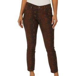 Royalty by YMI Petite Leopard Skinny Fit Anklet Jeans