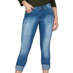 Royalty by YMI Petite Mega Roll Cuff Ankle Jeans