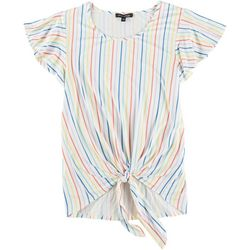Tint & Shadow Petite Raibow Stripes Top