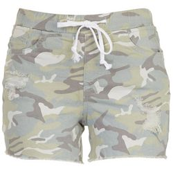 Royalty by YMI Petite Pull-On Camo Shorts